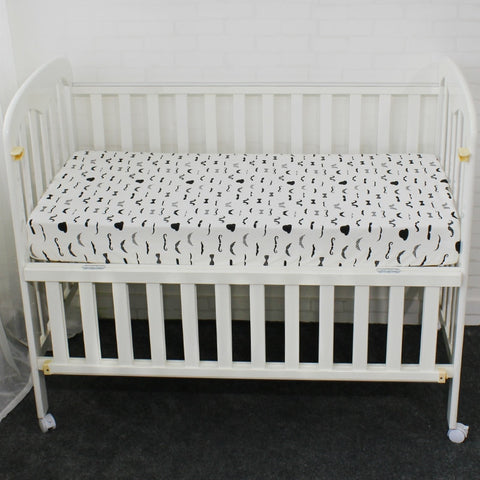 Crib Fitted Sheet, 100% Pure Cotton, Cute Pattern, Two Size