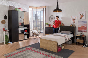 Kinder-Jugendzimmer Black 4-tlg Set