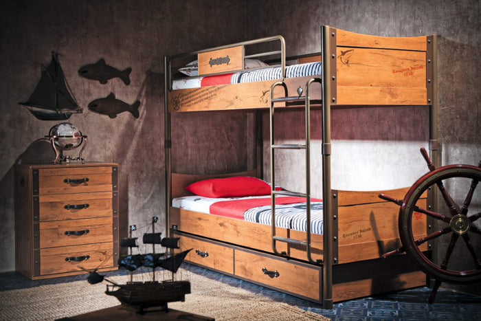 Kinderzimmer Pirate Set 3-tlg. (Etagenbett)
