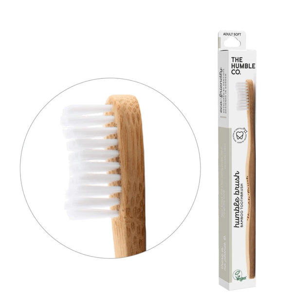 Humble brush adult - white, soft bristles