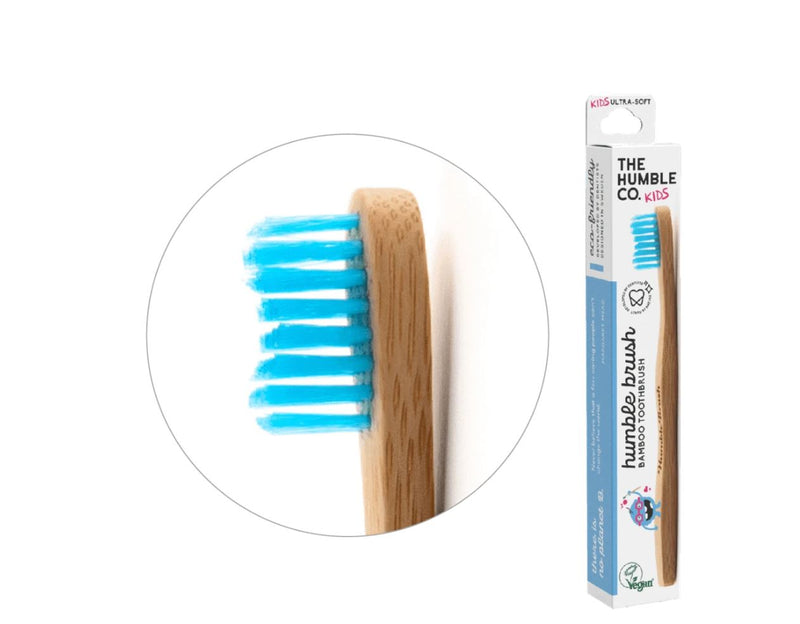Humble brush kids - blue, ultra-soft bristles