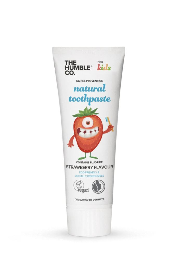 Humble natural toothpaste – kids strawberry with fluoride