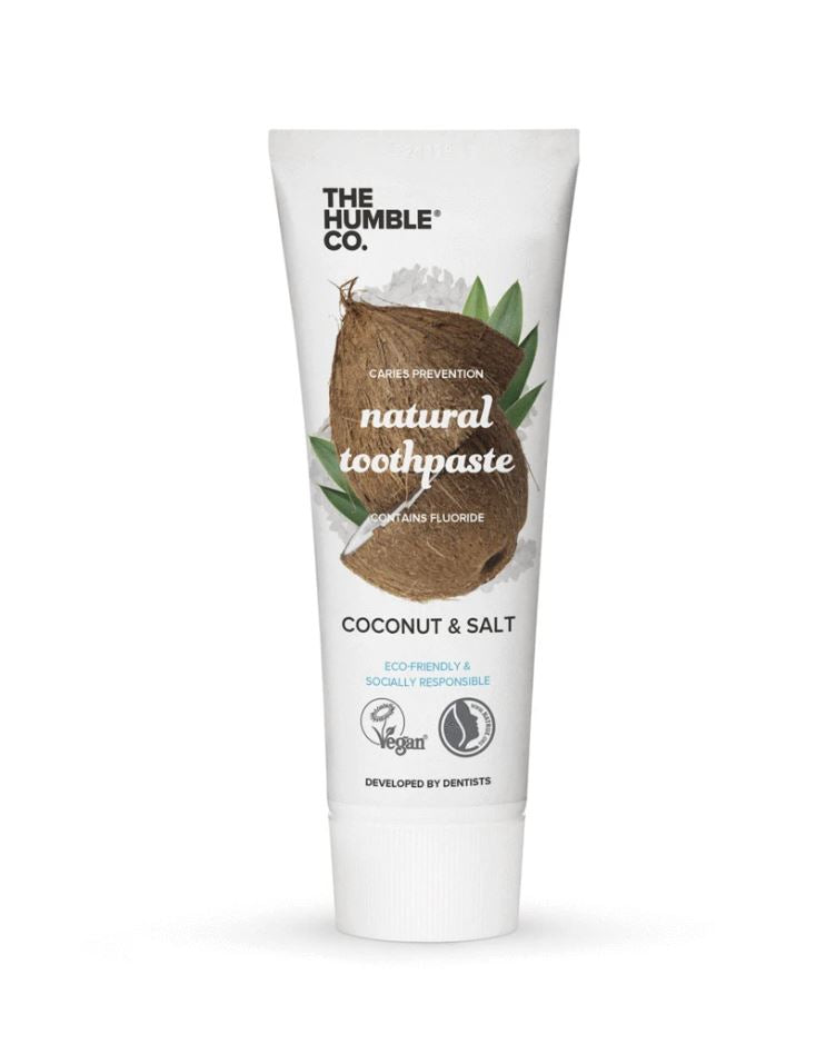 Humble natural toothpaste – coconut & salt with fluoride