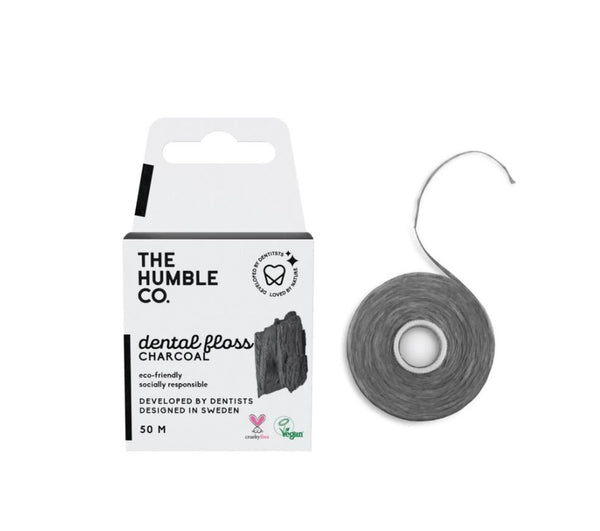 Humble dental floss - charcoal 50 m