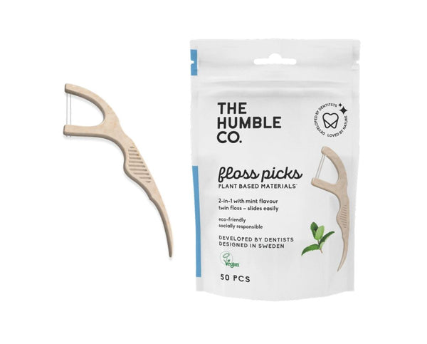 Humble natural humble floss picks - mint (50 pack)