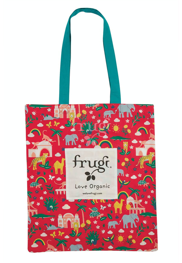 Large Tote Bag, True Red India