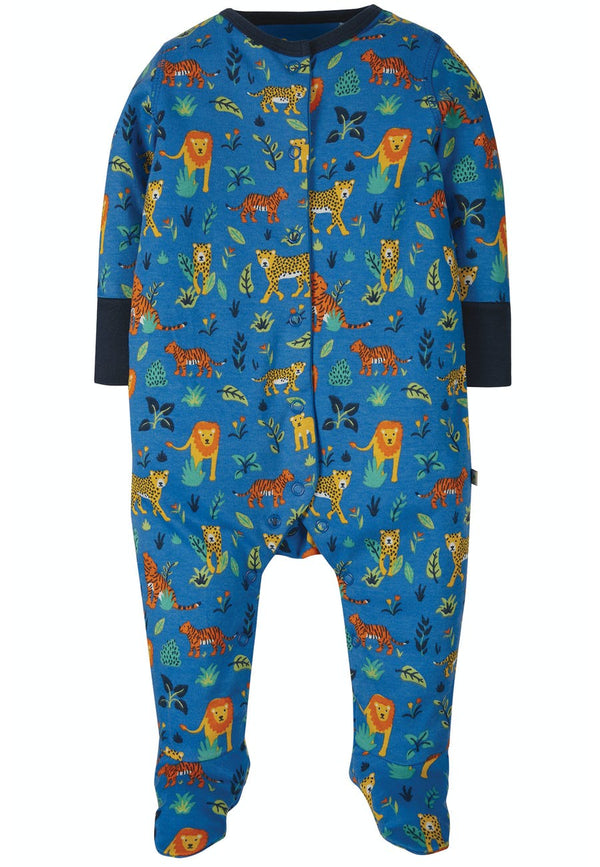 Lovely Babygrow, Cobalt Big Cats
