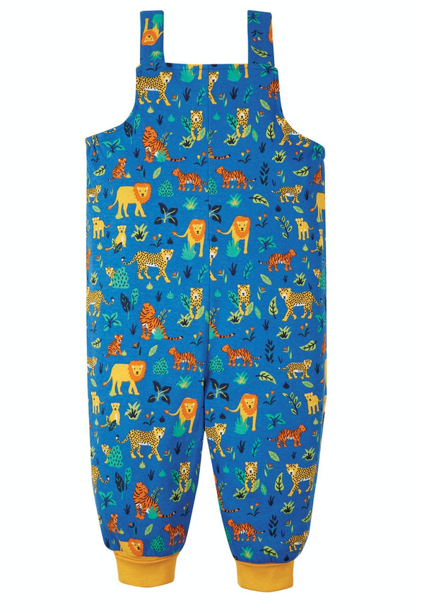 Parsnip Dungaree, Cobalt Big Cats