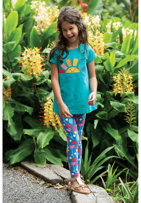 Libby Printed Leggings, Lotus Bloom