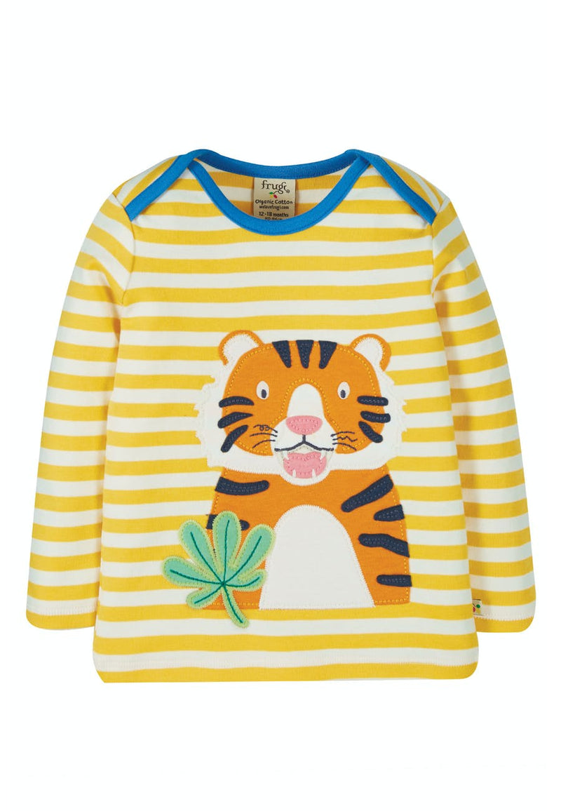 Bobby Applique Top, Bumble Bee Stripe
