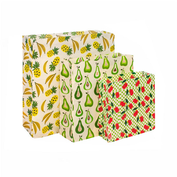 Superbee Waxed Food Bags Set 3PC