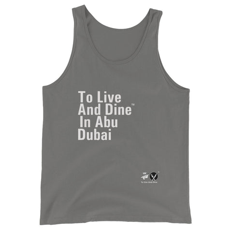 To Live And Dine In Abu Dhabi Unisex Tank Top (Part 2)