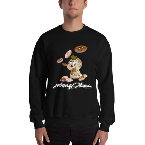 Johnny Glaze Blowing Donuts Sweatshirt
