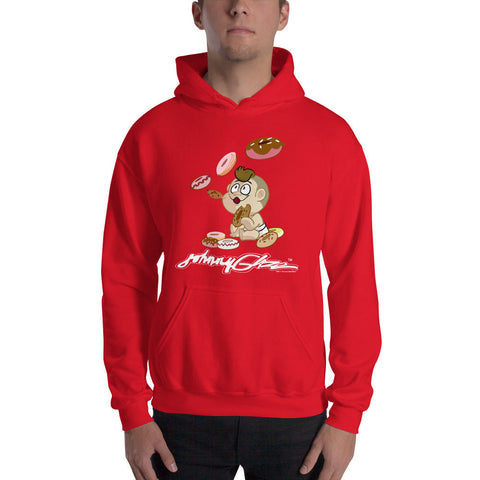 Johnny Glaze Blowing Donuts Hooded Sweatshirt