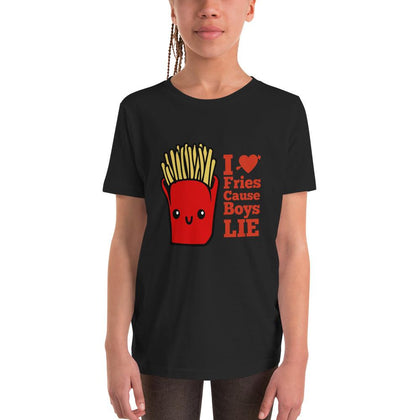 I Love Fries Cause Boys LIE Girl's T-Shirt
