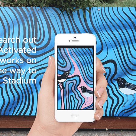 Local artist Sutu and Activate Perth have developed a cool Art Walk experience app which merges art, animation and AR.