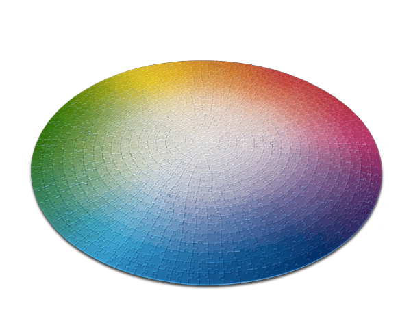 New 1000 Colours Colour Theory Puzzle Wheel by Clemens Habicht