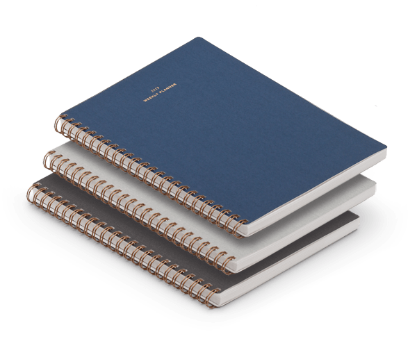 Appointed 2018-19 Weekly Planner Notebooks
