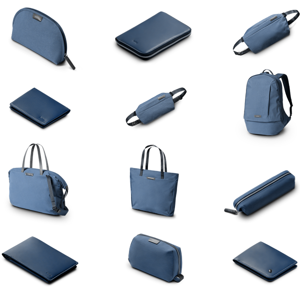 Bellroy Performance Marine Blue Collection · 100% Recycled