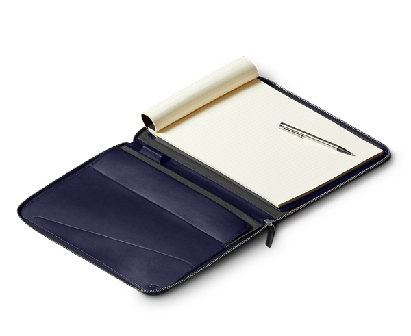 The Bellroy Work Folio Compendium A4 & A5 now in Navy