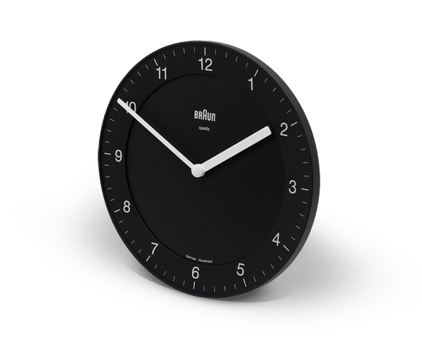 Braun classic Wall Clock in black