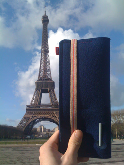 Bug & Megs 100% wool felt passport wallet Paris