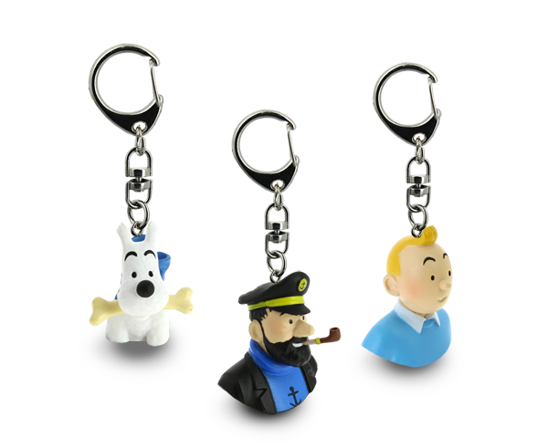 The Adventures of Tintin Bust keyrings and figurines