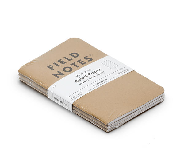 Field Notes classic memo books 3-packs