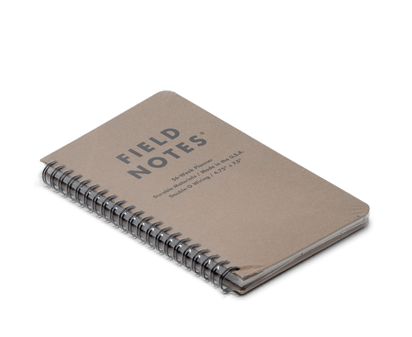 Field Notes 56 Week (Dateless) Planner · Start anytime, just fill in your dates.