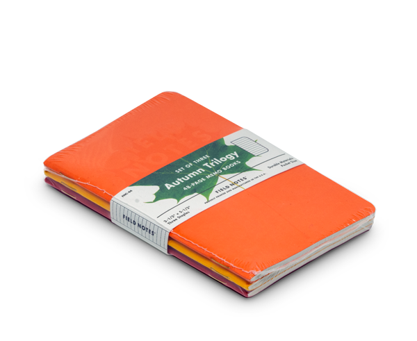 Field Notes Notebooks 'Autumn Trilogy' 2019 Edition · 3-Pack (Ruled Paper)