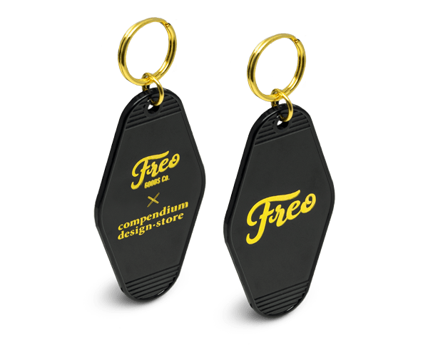 Freo Goods Co x Compendium Design Store Key Fob in Black & Gold