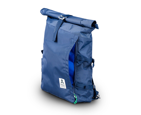 The Ghost Outdoors Rucksack in Navy and Ochre