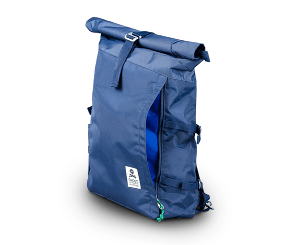 Ghost Outdoors Perth, fold down rucksack. Designed in Perth.