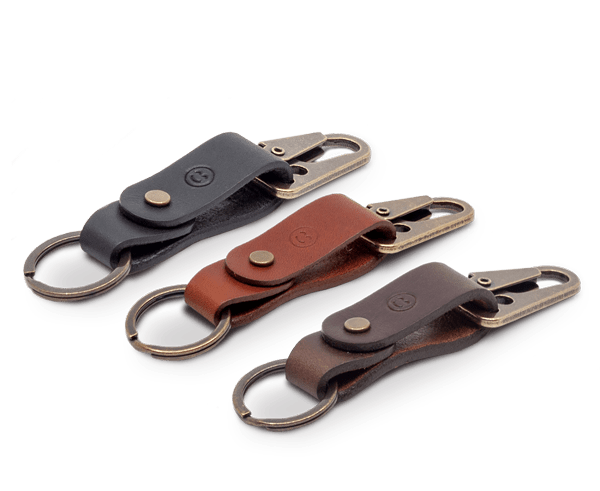 All New Isaac Francis Leather Key Fob Clip