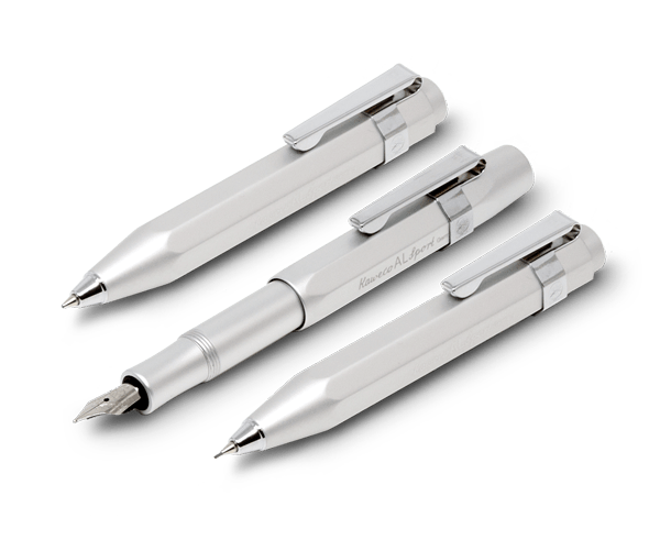 Kaweco 'Al Sport' Series in Silver · Fountain Pen, Mechanical Pencil or Ballpoint