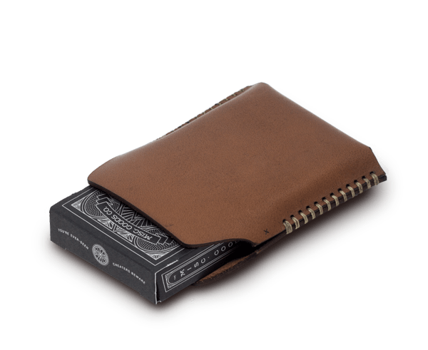 Leather playing cards holder