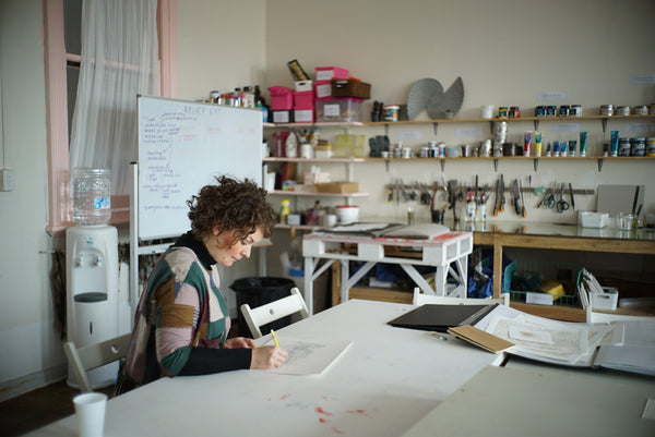 Magali Dincher at her studio