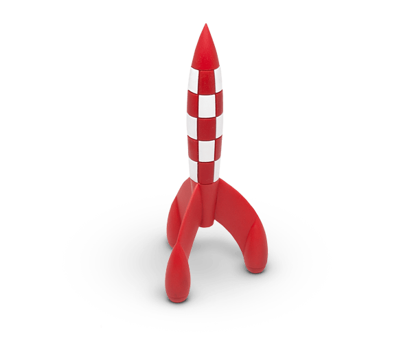 The Moon Rocket from the Adventures of Tintin