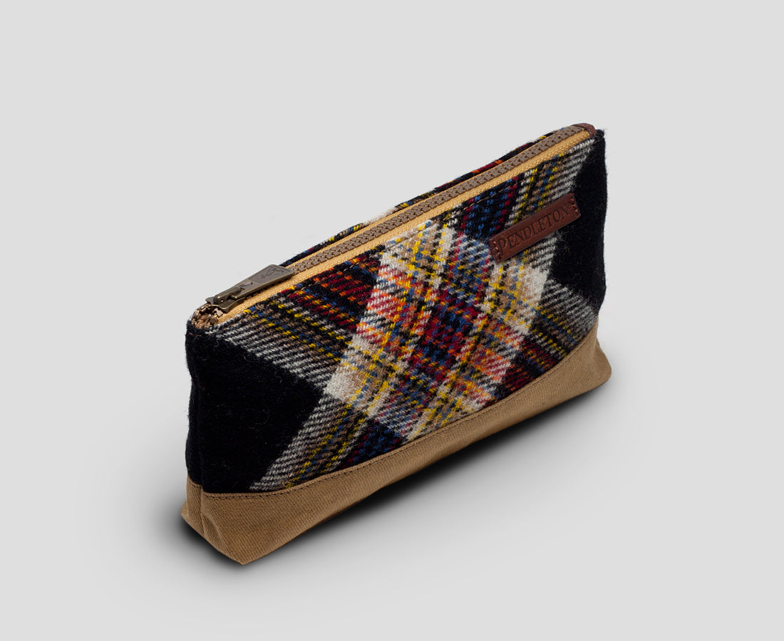 Arcadia Paid zip pouch by Pendleton Woolen Mills USA