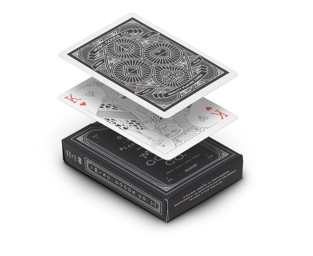 Playing cards in black by Misc Goods Co