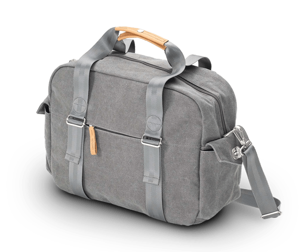 The Overnighter bag by QWSTION in Washed Grey canvas.