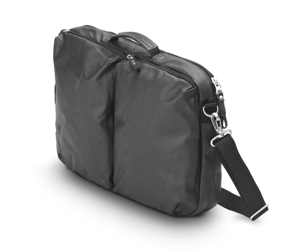 New QWSTION Simple Office Bag in Organic Jet Black