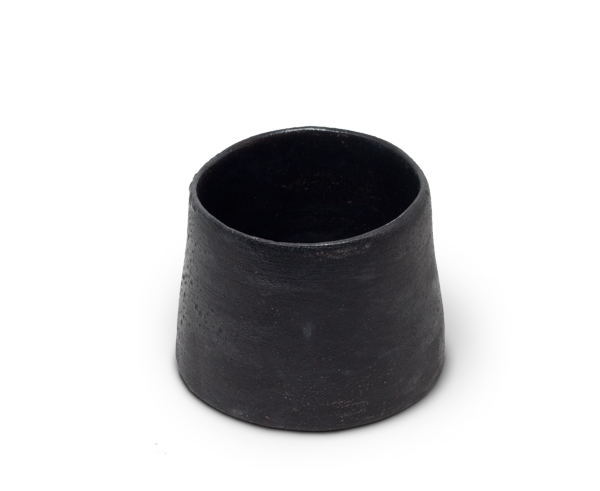 Sole Ceramics handmade ceramic cup in black.