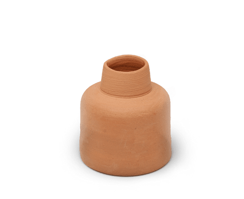 Sole Ceramics handmade raw terracotta vase.
