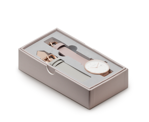 The Horse D-Series Watch Set in Blush and Grey