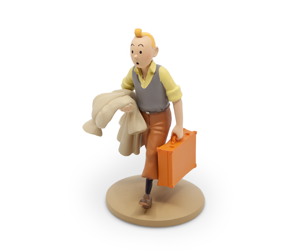 Tintin on the Road 12cm resin figurine