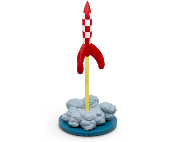 Limited Edition Rocket Taking Off XL Resin from The Adventures of Tintin