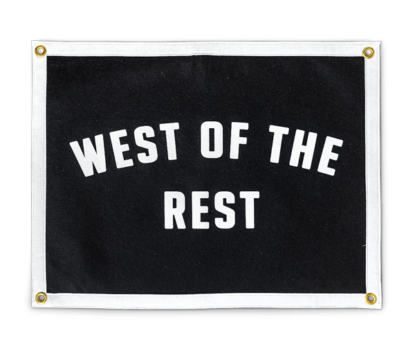 'West Of The Rest' Camp Flag x Freo Goods Co