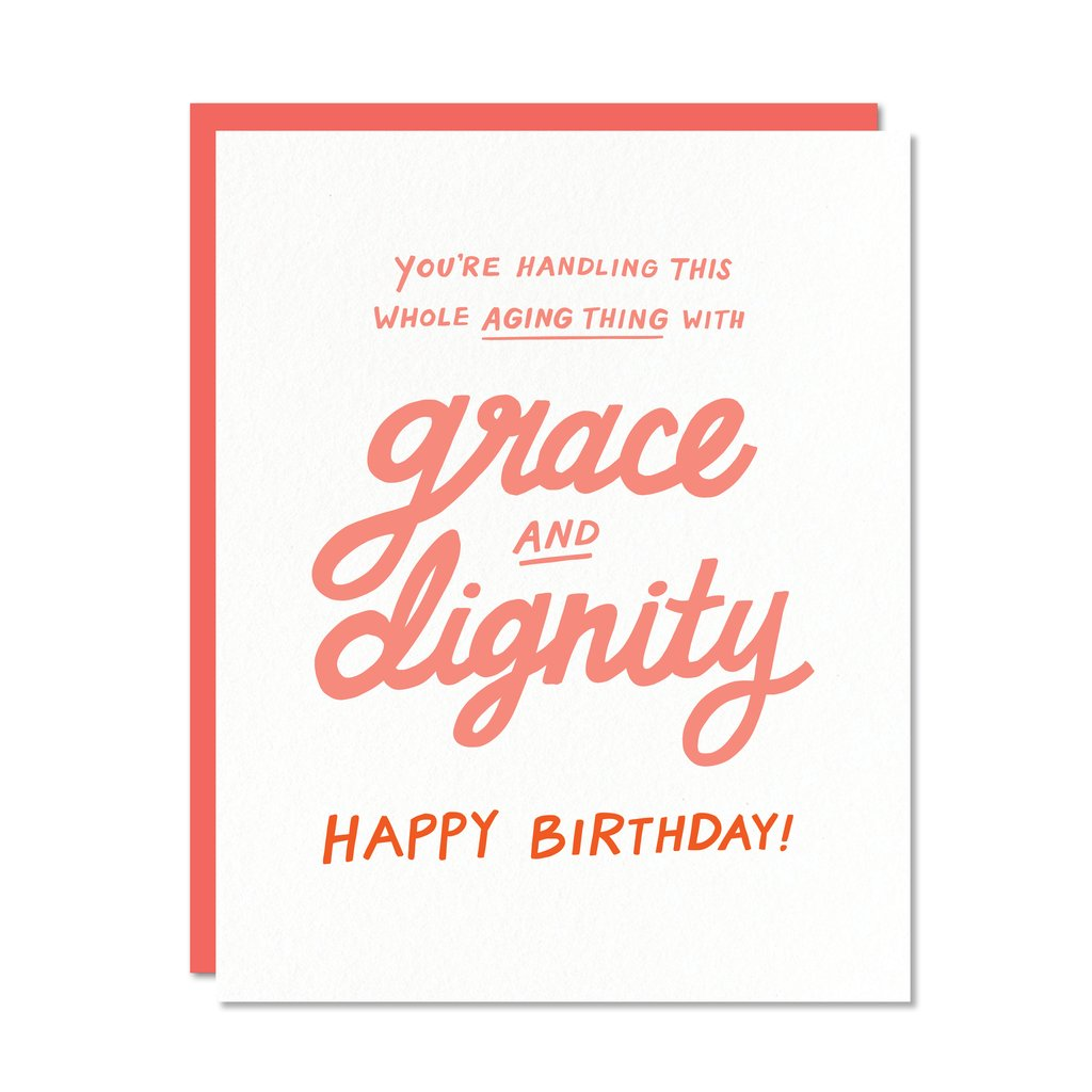 Grace & Dignity Greeting Card. Compendium Design Store, Fremantle. AfterPay, ZipPay accepted.