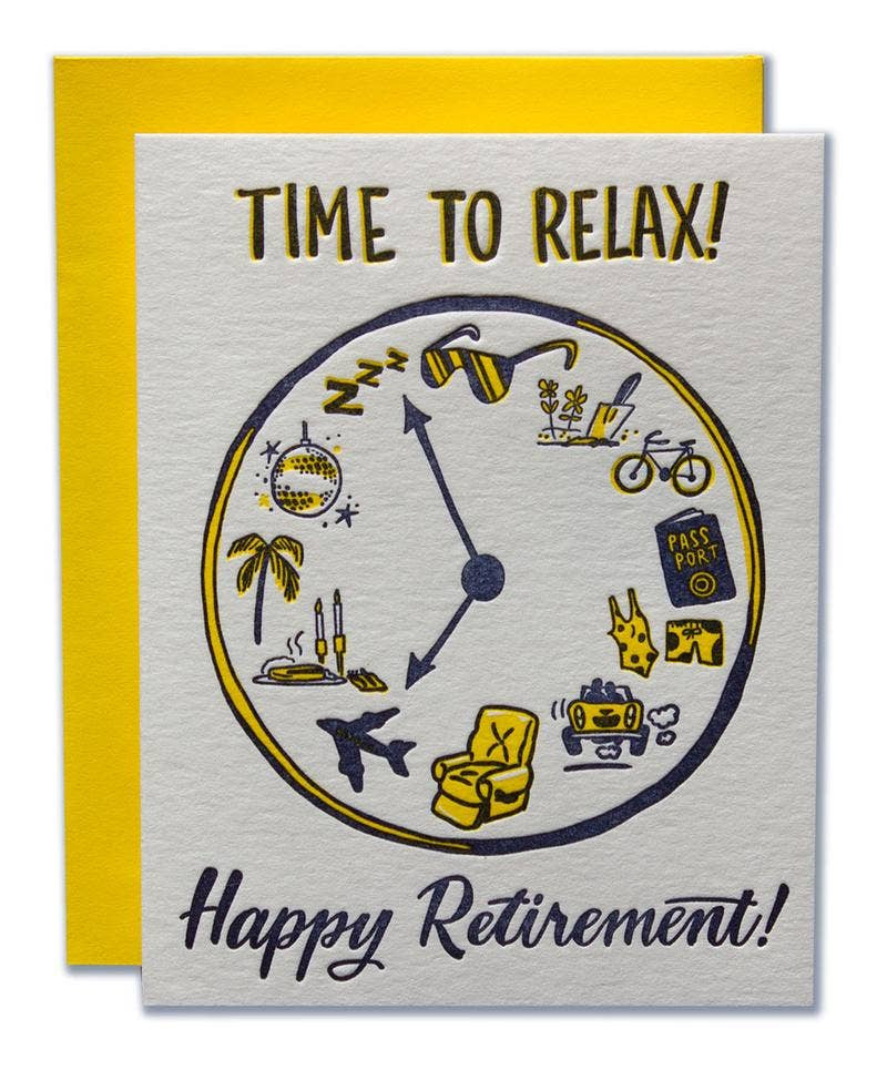 Time To Relax Card. Compendium Design Store, Fremantle. AfterPay, ZipPay accepted.